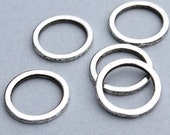 25 SILVER Soldered CLOSED JUMPRING / Connector / Donut - 14mm - Infinity Circle / Findings - Wholesale / Bulk Quantity Discount - Ref 1940