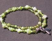 Lime green Cancer Awareness Bracelet