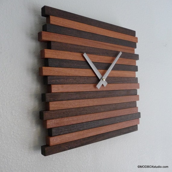 Items Similar To Clock Wall Hanging Reclaimed Wood Modern