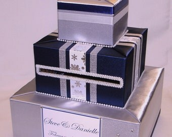 Elegant Custom Made Wedding Card Box-Winter theme