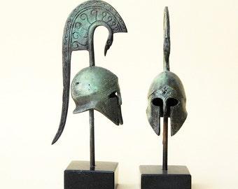 Bronze Helmet with Crest - Ancient Greek Corinthian