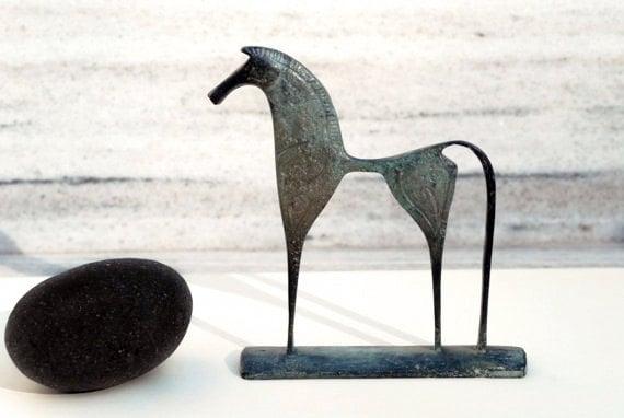 Greek Geometric Bronze Horse