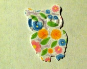 50 White OWLS with flowers Hand Punched Die Cuts Confetti, Birthday party Invitations,scrapbooking, cards