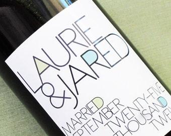 Modern Wedding Wine Label