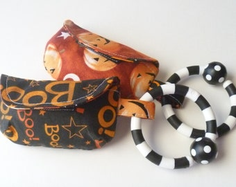 Little Boo's Halloween Pacifier Pouch or leash bag