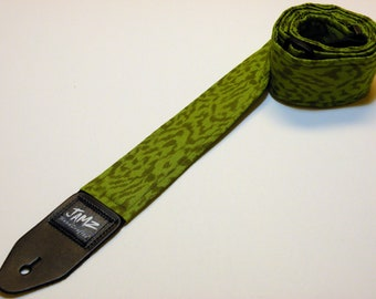 Handmade Doule Padded Guitar Strap - Green - Emerald