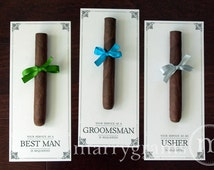 Groomsman Card, Cigar Card Will You Be My Groomsman Your Service Is Requested Best Man, Ring Bearer, Usher Way to Ask  Wedding (Set of 6)