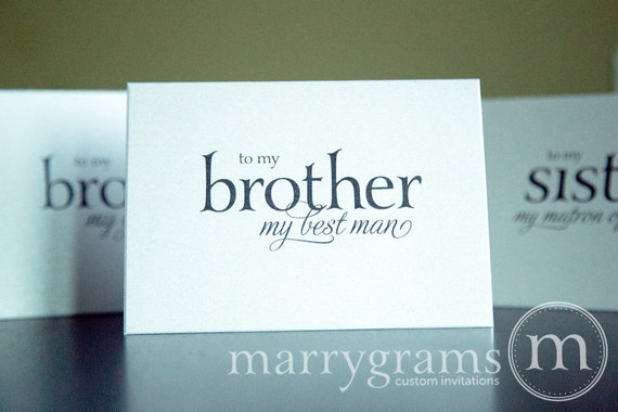 Good Wedding Gift For Brother : Wedding Card to Your BrotherBrother of the Bride or Groom Cards ...