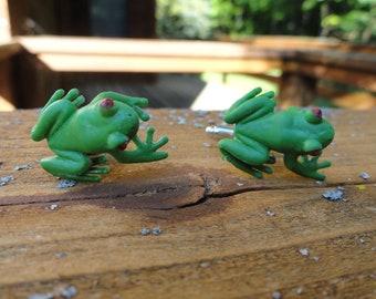 Red-Eyed Tree Frog Cufflinks
