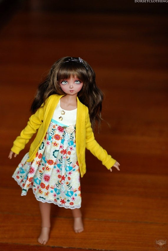 BJD MSD Yellow Cardigan For Ball Jointed Dolls - Free Shipping Black Friday Cyber Monday