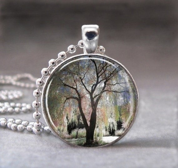 Items Similar To Weeping Willow Tree Necklace Tree