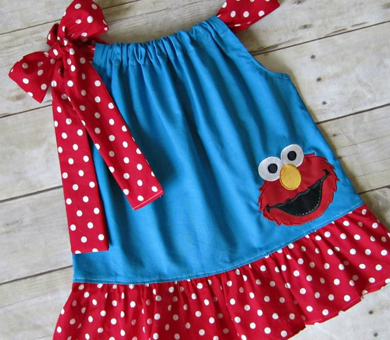 Elmo pillowcase Dress - Elmo Birthday Dress