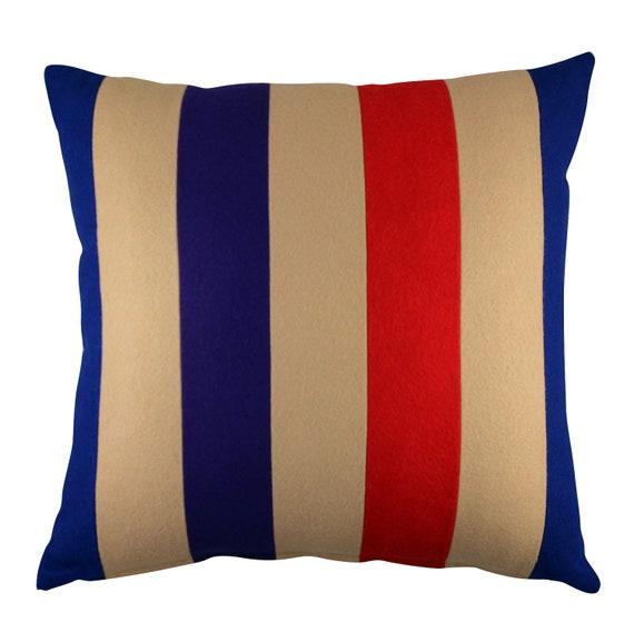 Bold Stripe 18 x 18 Wool Felt Pillow Cover