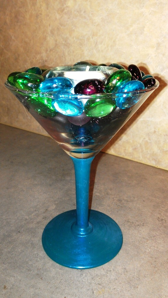 Items similar to decorative martini glass candle holder
