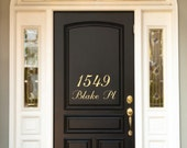 House Number and Street Name - Welcome Door Removable Vinyl Decal