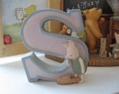 Winnie the Pooh S - Nursery Alphabet Letter by Michel Co.