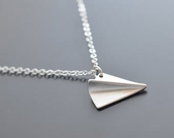 10% OFF, Paper airplane necklace, Silver necklace,Mothers necklace,Gift for her,Necklace set,Earrings set, Anniversary gift, Christmas gift
