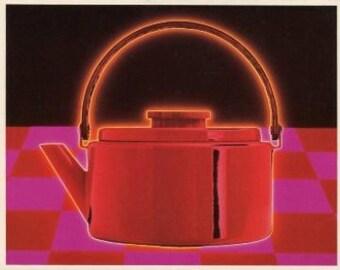 Yummy Teapot Vintage Greeting Card