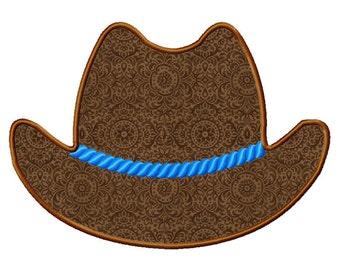 Cowboy Hat Applique Machine Embroidery Design - 4 Sizes