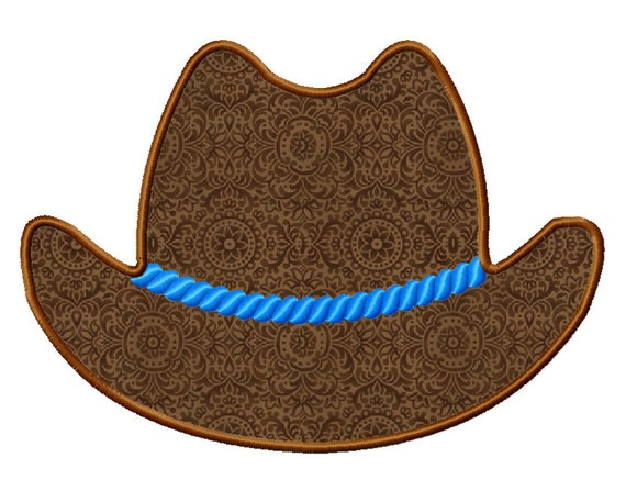 Cowboy Hat Applique Machine Embroidery Design - 4 Sizes