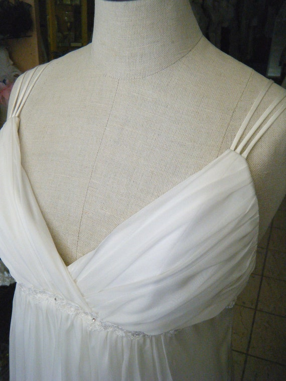 CLEARANCE Silk Chiffon Wedding Dress handcrafted in Canada
