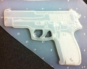 Flexible Resin Large Pistol Gun Plastic Mold