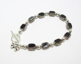 Rectangle Black Window Glass Bracelet