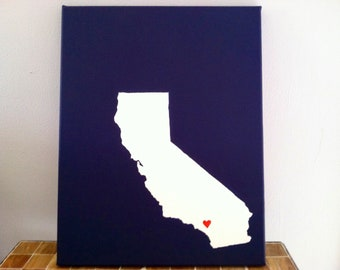 "California Love Painting - 11x14"" canvas - Customized and hand painted"