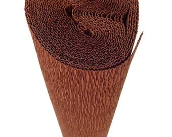 Italian Crepe Paper roll 180 gram  -  568 BROWN SUEDE
