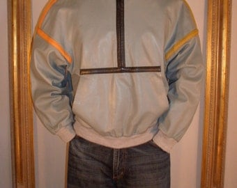 Vintage 1970's Guy Laroche Leather Jacket - Size Large