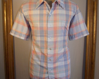 Vintage Bullock's Wilshire Short Sleeve Plaid Shirt - Size XL