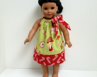 18 inch Doll Clothes Angel Cakes Christmas Pillowcase Dress 15 inch Doll Clothes