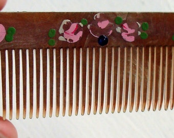 Vintage Celluloid Pocket / Purse Hair Comb