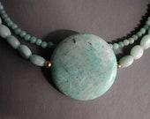 Amazonite Necklace & Earrings
