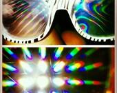 Rave light show glasses- Glow in the dark zebra