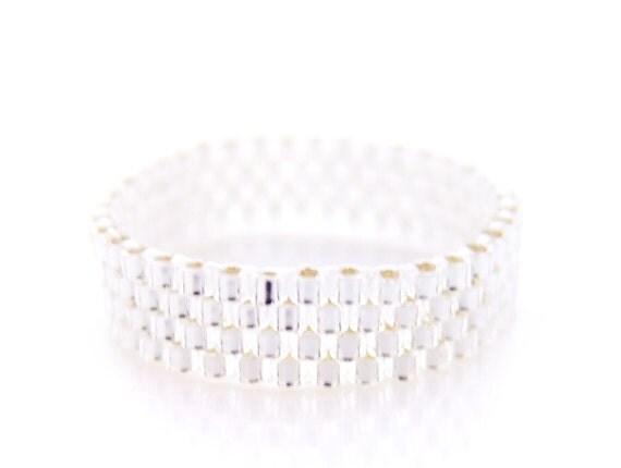 Silver Ring, Stacking Ring, Skinny Ring, Beaded Ring, Minimalist, Urban