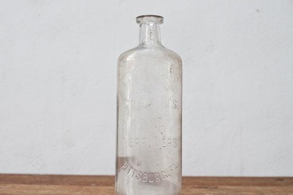 Clear Simple Pharmacy W&H Walker Chemist Bottle