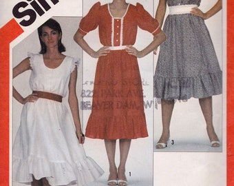 Simplicity 5841 Misses' Pullover Dress with Sleeve Variations Pattern, UNCUT, Size 10-12-14, Adjustable for Miss Petite, Sundress