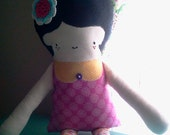 """RESERVED FOR AMBER: The """"Little Lexi"""" Cotton Rag Doll"""