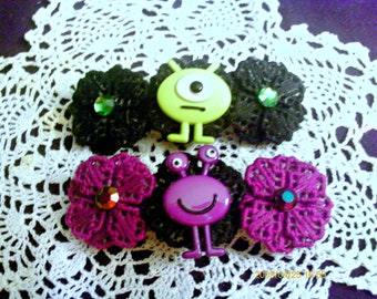 Martian Hop Flower barrette CHOOSE ONE