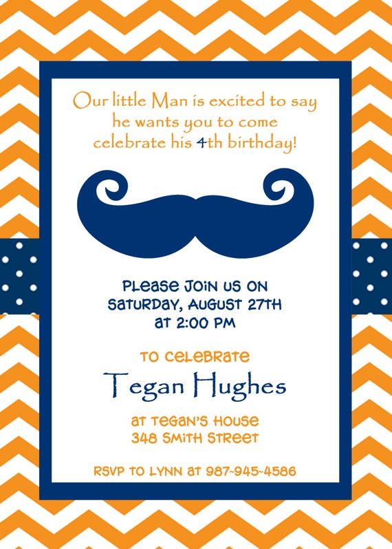 Items similar to Little Man Printable Party Invitation Mustache – Little Man Mustache Party Invitations