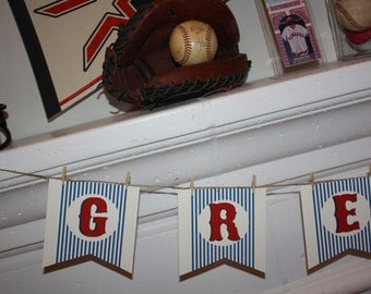 Baseball Party Baseball Party Banner Baseball Birthday Party Banner Vintage