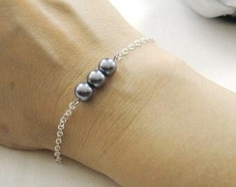 Simple chic pearls bracelet, bridesmaids bracelet, wedding jewelry - BR002 (Choose your pearl colour)