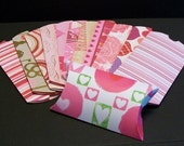 Pillow Box Assortment  - Valentine Gift Wrap - Cardstock Favor Box - Holiday Gift Wrap