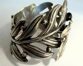 Mexican Silver Fern Clamper Bracelet