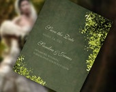 Save the Date Cards with Floral Accents, Classic and Chic Design, Also Available as a Postcard. Different Colors Evoke Different Seasons