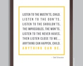 Custom Quote Poster, Personalized Text Print (inspirational quote, message, song lyrics) Home Decor, Birthday Gift, Choose your color