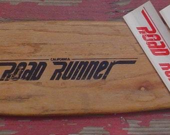 Vintage Skateboard Sticker California Road Rider 1970s Era Original Old School NOS USA Black