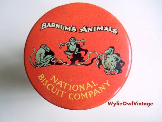 Vintage Barnum's Animal Cracker Tin 1979