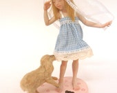 Sweet plays- Madeleine and Cherìe ,OOAK fairy- fantasy sculptures by Celestyal